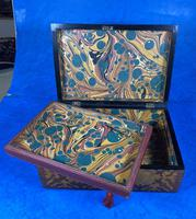 William IV Burr Maple & Rosewood Jewellery Box (7 of 12)