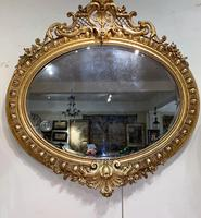 Large Gilt Oval Mirror (7 of 8)