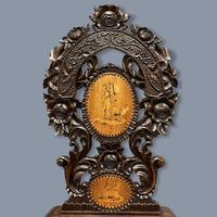Black Forest Carved & Inlaid Hall Chair (4 of 8)