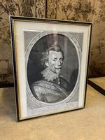 19th Century Portrait Engraving of a Spanish Nobleman