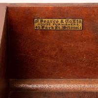 Edwardian Inlaid Mahogany 2 Drawer Side Table (12 of 15)