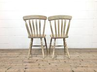 Set of Four Antique Beech & Elm Farmhouse Dining Chairs (5 of 8)