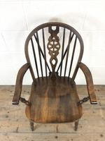 Set of Six 20th Century Wheelback Chairs including Two Carvers (9 of 20)