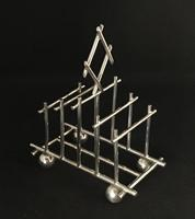 Christopher Dresser Style 5 Bar Silver Plated Toast Rack (2 of 5)