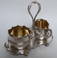 Attractive Arts & Crafts silver plated cream & sugar set (2 of 8)