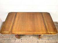 Antique Oak Draw Leaf Dining Table (6 of 10)