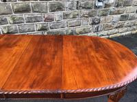 Antique Mahogany 9ft Wind Out Extending Dining Table (10 of 14)