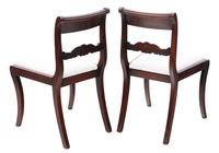Pair of Regency mahogany dining side hall bedroom chairs C1825 (7 of 7)