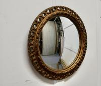 Carved Wood Convex Gilt Wall Mirror (3 of 4)