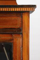 Small Edwardian Mahogany Inlaid Bookcase (11 of 14)