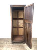 Early 20th Century Antique Oak Linenfold Hall Cupboard (11 of 13)
