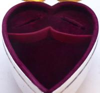 Rare Large 1904 Hallmarked Solid Silver Love Heart Pill Earring Jewellery Box (9 of 13)