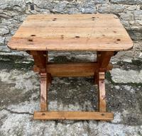 Antique Swedish Pine X-frame Trestle Table (2 of 21)