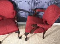 Pair of Mahogany Desk Chairs c.1920 (5 of 15)