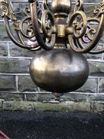 Antique English Brass Chandelier (2 of 13)