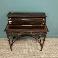 Spectacular Quality Victorian Rosewood Inlaid Antique Writing Desk (9 of 12)