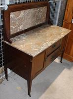 1940s Marble Top & Back Mahogany Washstand (3 of 3)