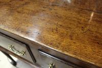18th Century Antique English Georgian Oak Pad Foot Dresser & Rack (4 of 9)