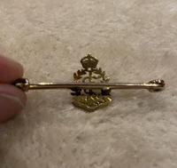 Yellow Metal and enamel Royal Army Medical Corps brooch. (3 of 4)