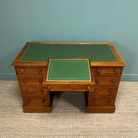 Large Victorian Mahogany Antique Pedestal Desk (7 of 7)