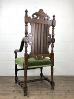Victorian Carved Oak Armchair (10 of 10)