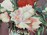 Large Original Gilt Framed 20th Century Impressionist Still Life Floral Oil Painting (8 of 12)