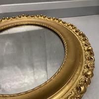 Pair of French Oval Gilt Mirrors (3 of 5)