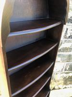 Antique Slim Oak Domed Top Open Bookcase (4 of 8)