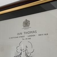Original Fashion Drawing by Ian Thomas - Dressmaker for the Royal Family (4 of 4)