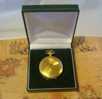 Vintage Pocket Watch 1970s Swiss Avia 17 Jewel 12ct Gold Plated Full Hunter Fwo (12 of 12)