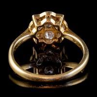 Art Deco Diamond Cluster Ring 18ct Gold Platinum Circa 1920 (4 of 6)