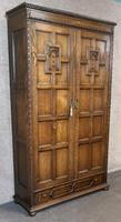 Good Quality Carved Oak Wardrobe. A Gardner & Sons, Glasgow (13 of 13)