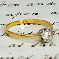 The Vintage Illusion Set Brilliant Cut Diamond Solitaire Ring (2 of 3)