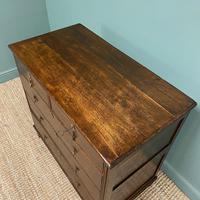 Early 18th Century Country House Antique Oak Chest Of Drawers (3 of 8)