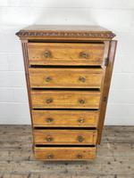 Large Victorian Oak Wellington Chest of Drawers by Shoolbred (3 of 13)