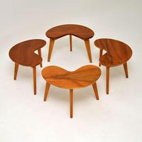 Pair of Vintage Walnut Kidney  Side  Tables (9 of 9)