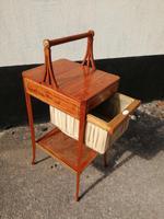 Beautiful Sheraton Revival Satinwood Sewing Table (8 of 11)