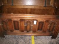 Carved Oak Lift Top Coffer (3 of 4)