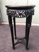 Antique Oriental Chinese Marble Top Stand (5 of 6)