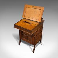 Antique Davenport, English, Walnut, Bird's Eye Maple, Writing Desk, Victorian (5 of 12)