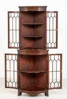 Bow Fronted Double Mahogany Corner Cabinet (5 of 6)