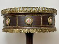Decorative French Louis Revival Style Marble Top Side Table with Romantic Sèvres Plaques (27 of 38)