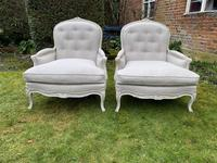 Pair of Very Large Bergere Armchairs (4 of 8)
