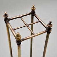 Antique Victorian Brass Umbrella Stand (6 of 7)