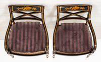Pair of Ebonised Regency Style Open Armchairs (7 of 9)