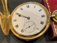 18ct Full Hunter Pocket Watch by Rotherham's of London (7 of 12)