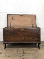 Small 18th Century Antique Elm Six Plank Coffer Chest (4 of 11)