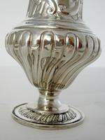 Large Victorian Silver Sugar Caster in a Baluster Shape and Pull Off Lid (2 of 6)