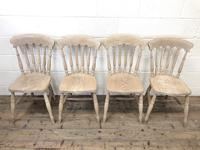 Set of Four Antique Spindle Back Kitchen Chairs (2 of 9)