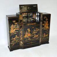 Art Deco Lacquered Chinoiserie Drinks Cabinet / Sideboard (3 of 16)